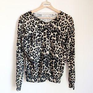 Van Heusen animal leopard print button up sweater